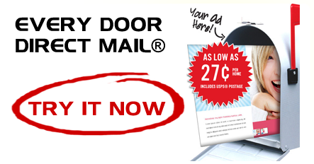 Every Door Direct Mail as low as .27 designed, printed and mailed
