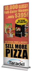 "33.35"" x 79"" Banner Stand"